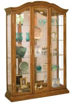 Astoria Grand Elrosa Lighted Curio Cabinet Astoria Grand