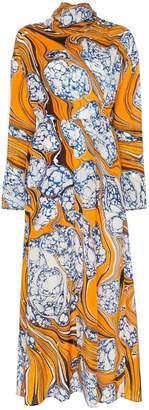 Rosie Assoulin cinched waist scarf dress
