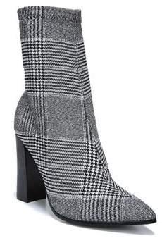 Fergie Taryn Glen Plaid Stretch Sock Booties