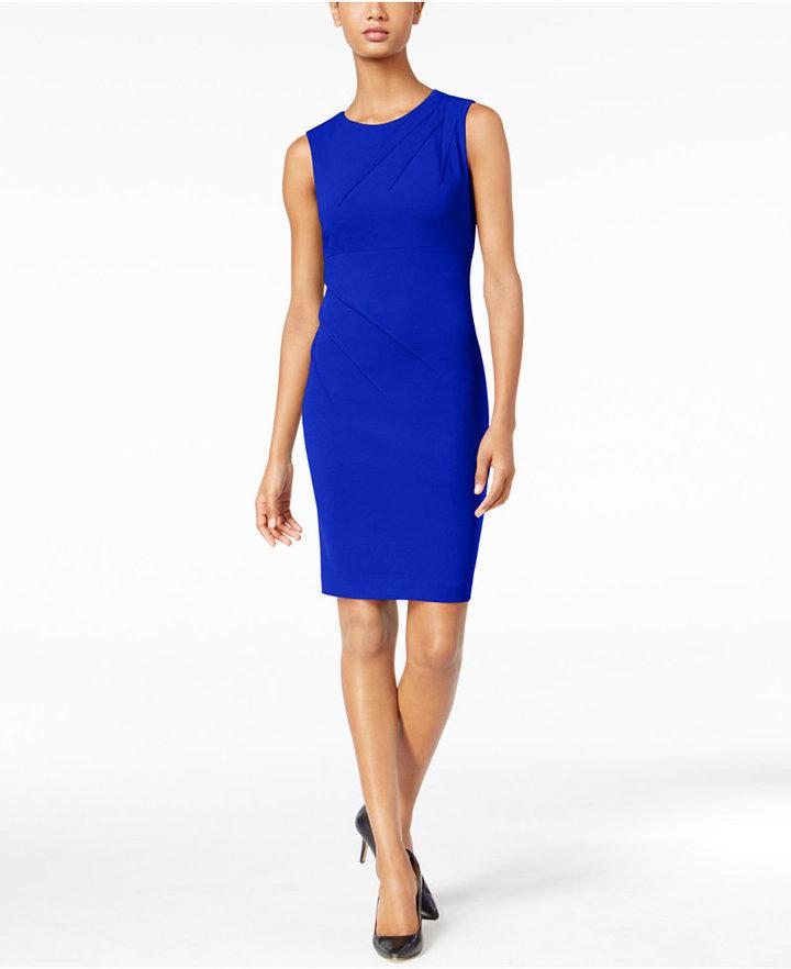 Calvin KleinCalvin Klein Pleated Sheath Dress