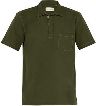 Oliver Spencer Yarmouth Short Sleeved Cotton Kildale Shirt - Mens - Dark Green
