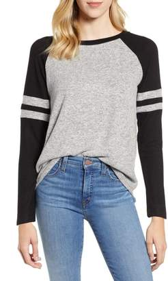 Gibson Cozy Long Sleeve Varsity Top