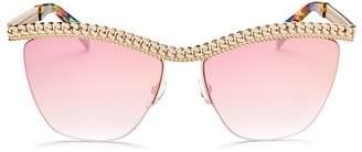 Moschino Women's 010 Square Sunglasses, 57mm