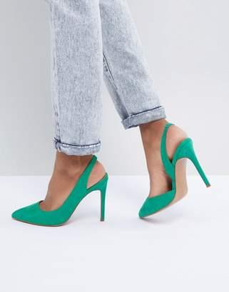 Asos Design DESIGN Prefect Slingback Pointed Heels