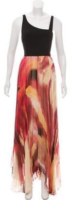 Alice + Olivia Digital-Print Maxi Dress