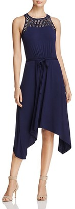 Design History Lace Yoke Belted Dress $118 thestylecure.com