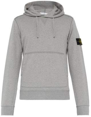 Stone Island Cotton Jersey Hooded Sweatshirt - Mens - Grey