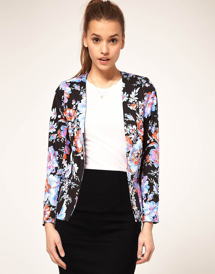 ASOS Blazer In Floral Print