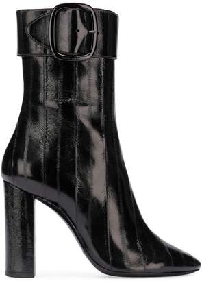 Saint Laurent buckle ankle boots