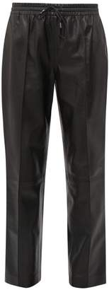 Joseph Dino Drawstring Waist Leather Trousers - Womens - Black