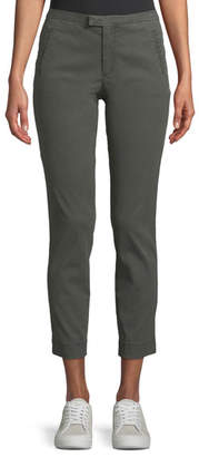 ATM Anthony Thomas Melillo Enzyme Washed Slim Straight-Leg Ankle Pants