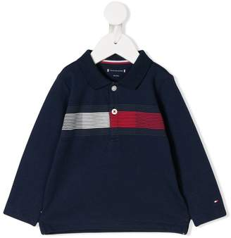 Tommy Hilfiger Junior contrast stripe polo shirt