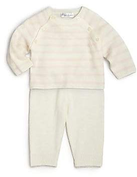 Ralph Lauren Baby Girl's Two-Piece Cashmere Shirt& Pants Set