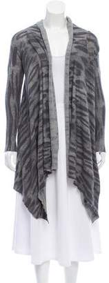Yigal Azrouel Printed Open Front Cardigan