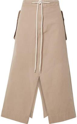 Bassike Cotton-canvas Midi Skirt - Beige