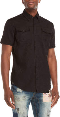 Billionaire Boys Club Black Gardens Jacquard Short Sleeve Shirt