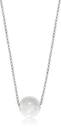 Antica Murrina Perleadi White Murano Glass Bead Chain Necklace $45 thestylecure.com