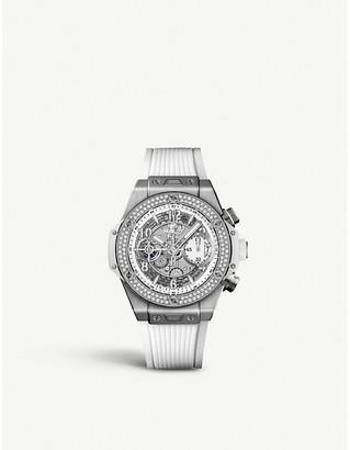 Hublot 441.NE.2010.RW.1104 Big Bang UNICO titanium and diamond watch