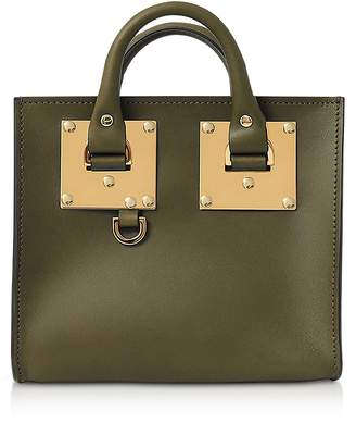 Sophie Hulme Shiny Saddle Leather Box Albion Tote