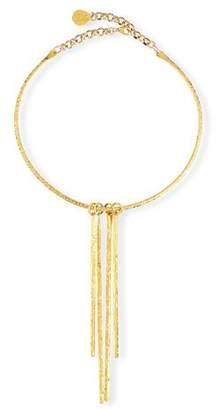 Devon Leigh Textured Stick Pendant Collar Necklace