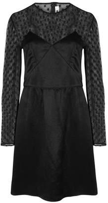 McQ Black Lace-panelled Satin Dress