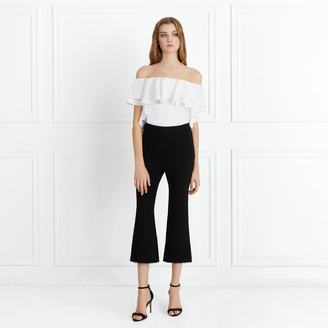 Rachel Zoe Michelle Stretch-Crepe Cropped Flare Pants