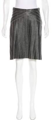 Prada Knee-Length Leather Skirt