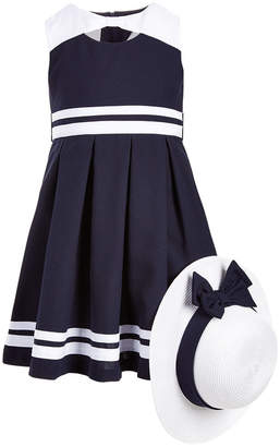 fa3f6d910d Bonnie Jean Toddler Girls 2-Pc. Nautical Dress   Hat Set
