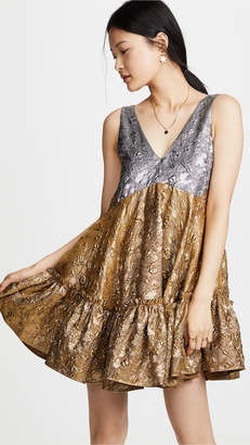 No.21 No. 21 V Neck Tiered Dress