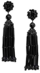 MANGO Crystal Drop Earrings