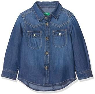 Benetton Boy's Shirt Plain Not Applicable Regular Fit Long Sleeve Blouse,(Manufacturer Size: XS)