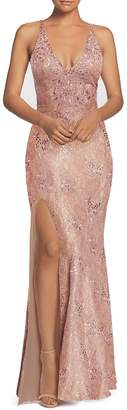 Dress the Population Lace Mermaid Gown