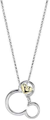 Disney Sterling and 10k Gold Mickey Mouse If you Can Dream It you Can Do It Pendant Necklace