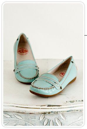 Palladium Krakow Pale Blue Patent Loafer