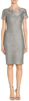 St. John Metallic Sequin Knit Dress