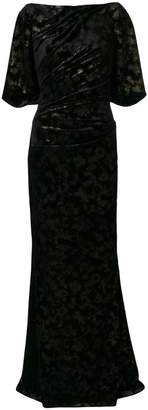 Talbot Runhof ベルベットドレス
