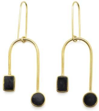 Soko Brass Dangle Earrings