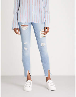 Frame Le Skinny de Jeanne Raw skinny mid-rise jeans