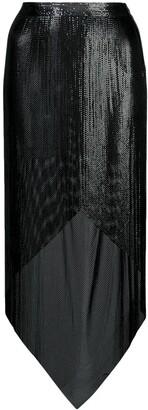 Fannie Schiavoni asymmetric chainmail skirt