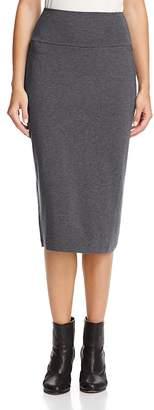 Eileen Fisher Foldover-Waist Knit Midi Skirt $178 thestylecure.com
