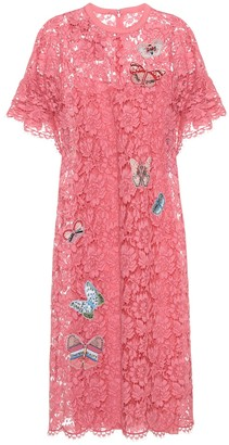 Valentino Embellished lace dress