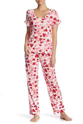 Hue Hearts 2-Piece Pajama Set