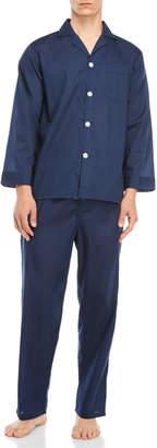 Geoffrey Beene Two-Piece Long Sleeve Shirt & Pajama Pants Set