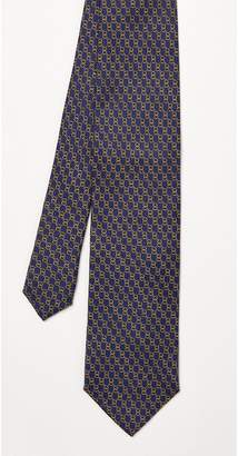 J.Mclaughlin Italian Silk tie in Chain Link Mini