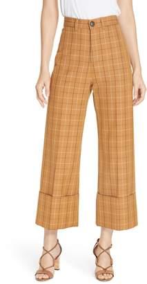 Sea Poirot Plaid Cuff Pants