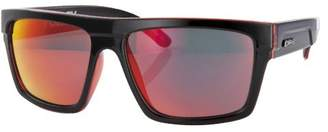 Carve Men's Volley Sunglasses, (Black/Clear Red Revo)