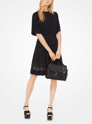 MICHAEL Michael Kors Embellished Matte-Jersey Dress