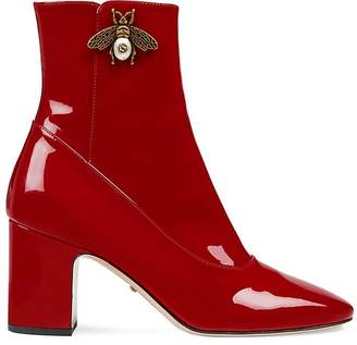 Gucci Women's Patent Leather Ankle Boots