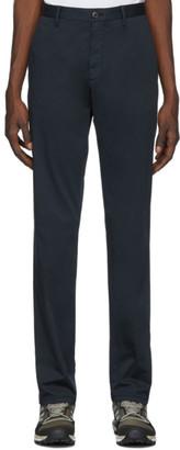 Ermenegildo Zegna Navy Cotton Satin Trousers