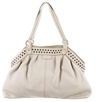 Hogan Studded Leather Shoulder Bag